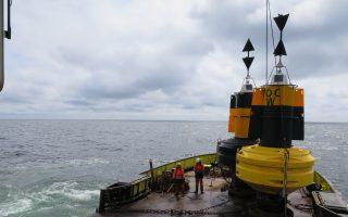 Deployment of cardinal buoys, April 28, 2016