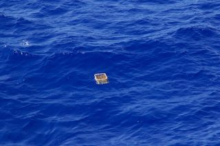 Mega debris (crate) in the Great Pacific Garbage Patch.