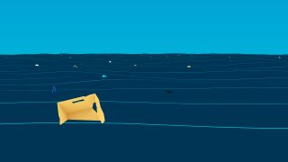 Great Pacific Garbage Patch - Illustration