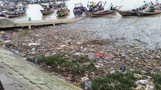 Waste on a river bank, Myanmar, September 2016