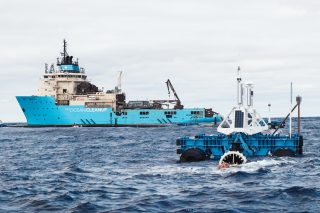 System 001 deployed in the Great Pacific Garbage Patch, October 2018