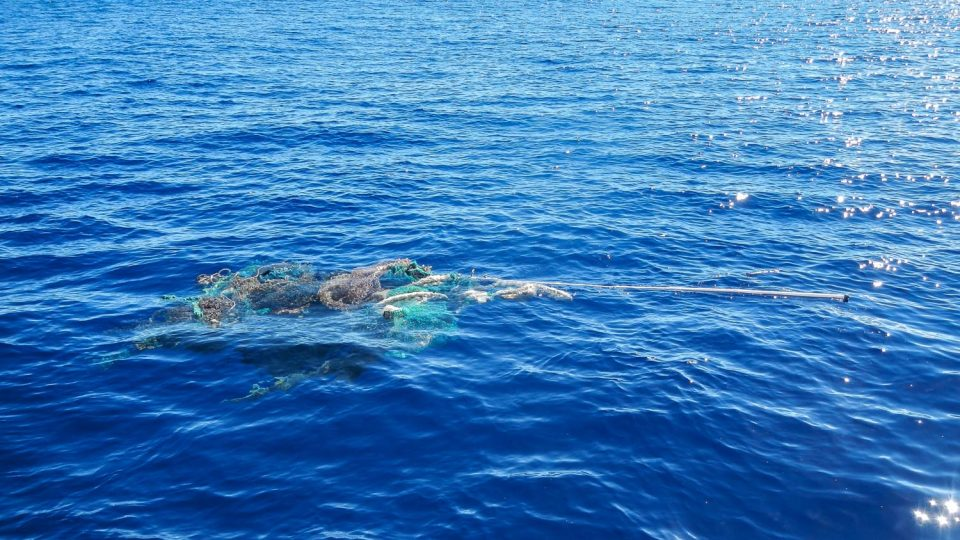 #01 - A ghostnet floating in the Great Pacific Garbage Patch.