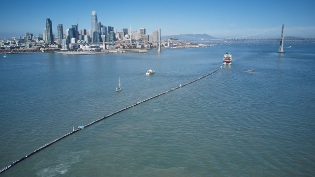 SAN FRANCISCO, CALIFORNIA, September 8, 2018 – The Ocean Cleanup Deploying System 001 into the Great Pacific Garbage Patch - Photo: Pierre AUGIER for The OCEAN CLEANUP