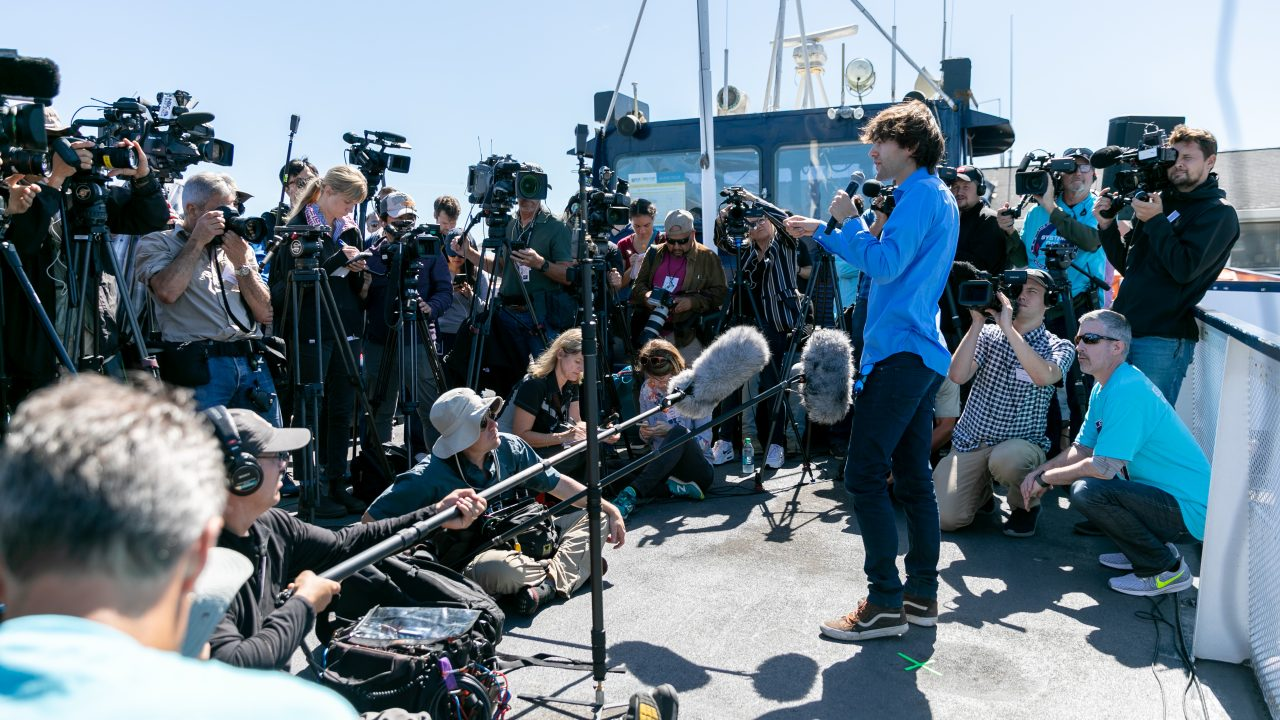 SAN FRANCISCO, CALIFORNIA, September 8, 2018 – The Ocean Cleanup Launched System 001 into the Great Pacific Garbage Patch from San Francisco - Photo: Pierre AUGIER for The OCEAN CLEANUP
