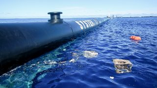 First plastic accumulated by System 001 in the Great Pacific Garbage Patch, October 2018.