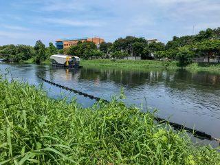 Interceptor 001™ in Cenkareng drain, Jakarta, Indonesia