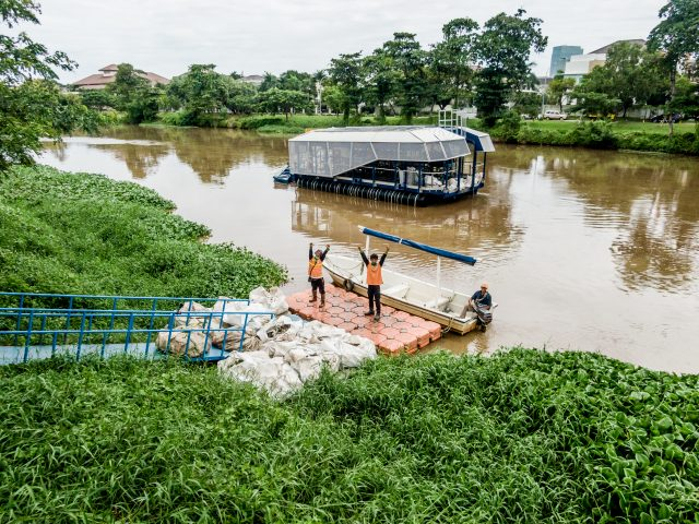 Interceptor 001™ in Cengkareng drain, Jakarta, Indonesia