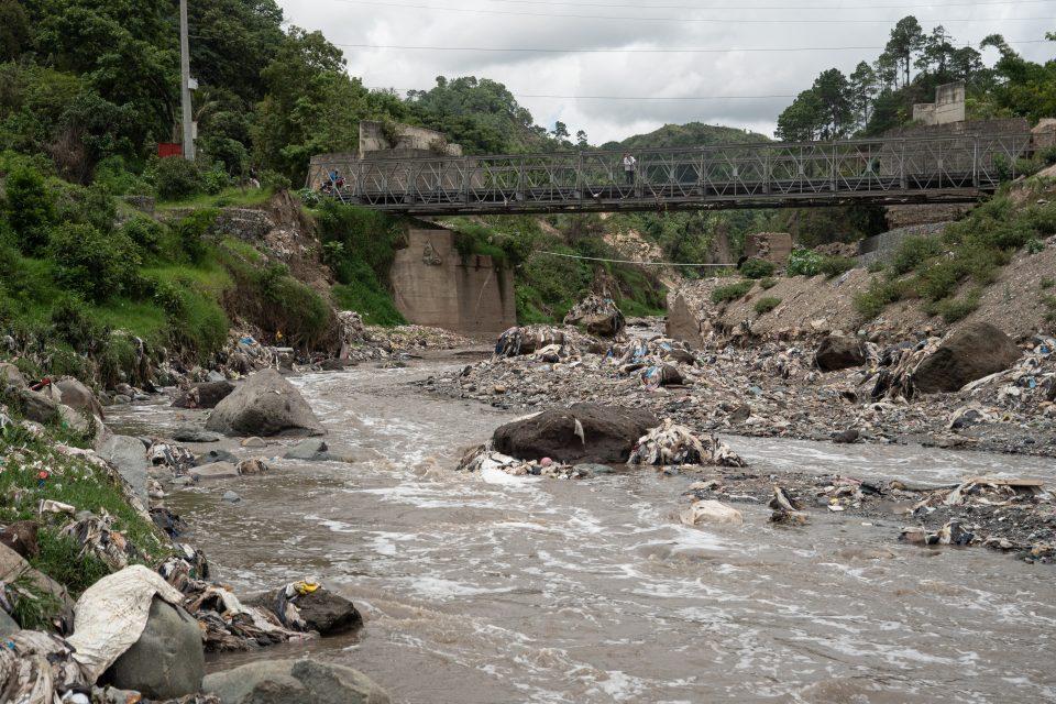 River plastic in Guatemala