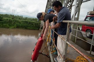 River plastic research in Guatemala