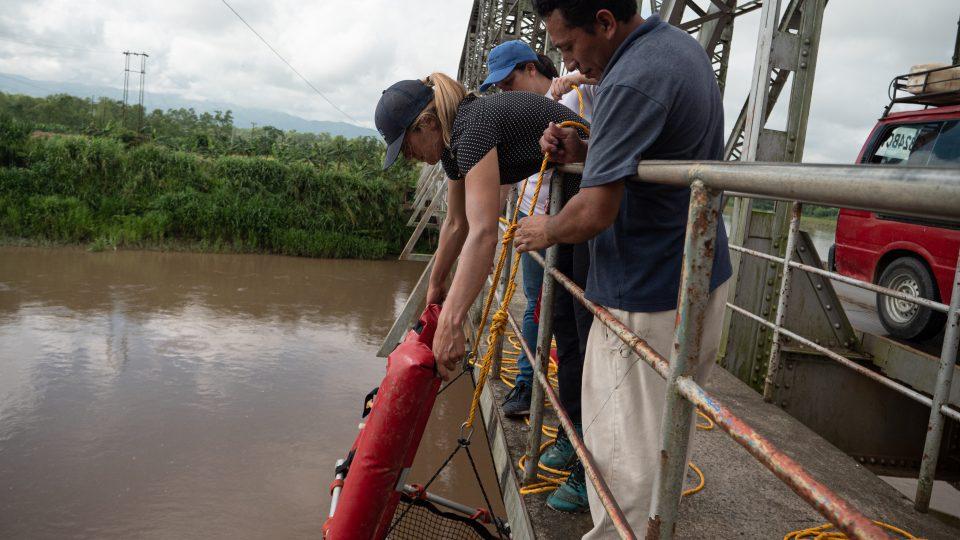 River plastic research in Guatemala