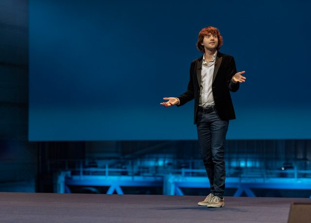 Boyan Slat unveiling the Interceptor, October 26th, 2019