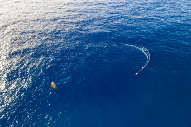 System 001/B in the Great Pacific Garbage Patch