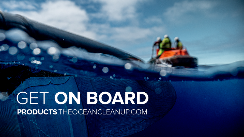 Take ocean cleaning into your own hands - Get on board at products.theoceancleanup.com