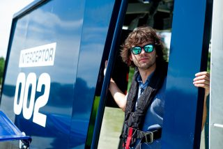 Boyan Slat at the Interceptor in Klang river, Malaysia