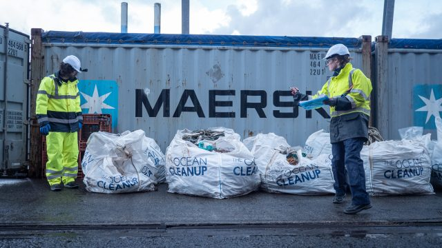 The Ocean Cleanup Valorizationteam checking plastic catch