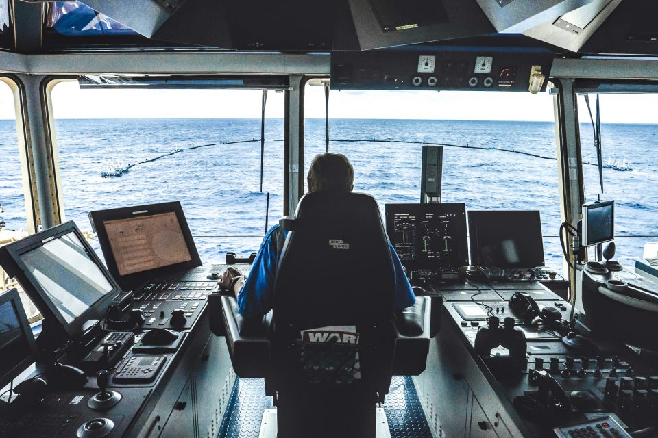 View of System 001 from the bridge in the support vessel