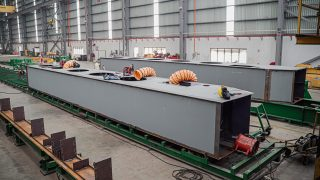 First pontoons being produced for Interceptors at MHE Demag.