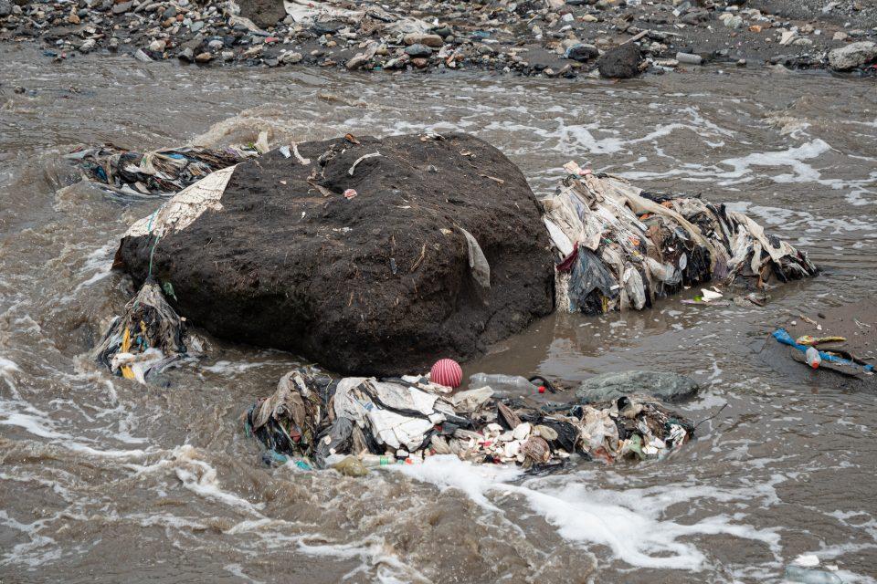 Pollution in Las Vacas River, Guatemala