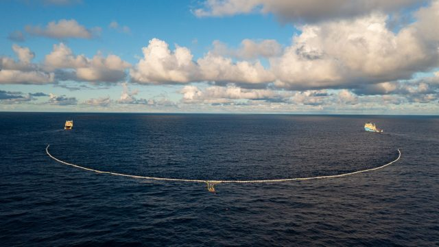 System 002 in the Great Pacific Garbage Patch, August 2021